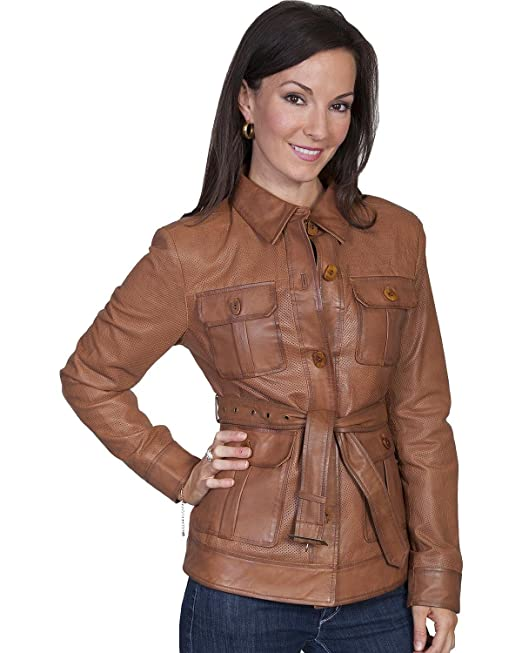 1930s Style Coats, Jackets | Art Deco Outerwear Scully Womens Belted Lamb Leather Jacket - L993-10 $361.59 AT vintagedancer.com