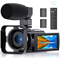 Video Camera Camcorder, FamBrow YouTube Camera FHD 1080P 24MP 16X Digital Zoom Camcorders Vlogging Camera 3.0 Inch IPS…