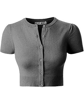 Ollie Arnes Women Basic Short Sleeve Versatile Bolero Shrug ...