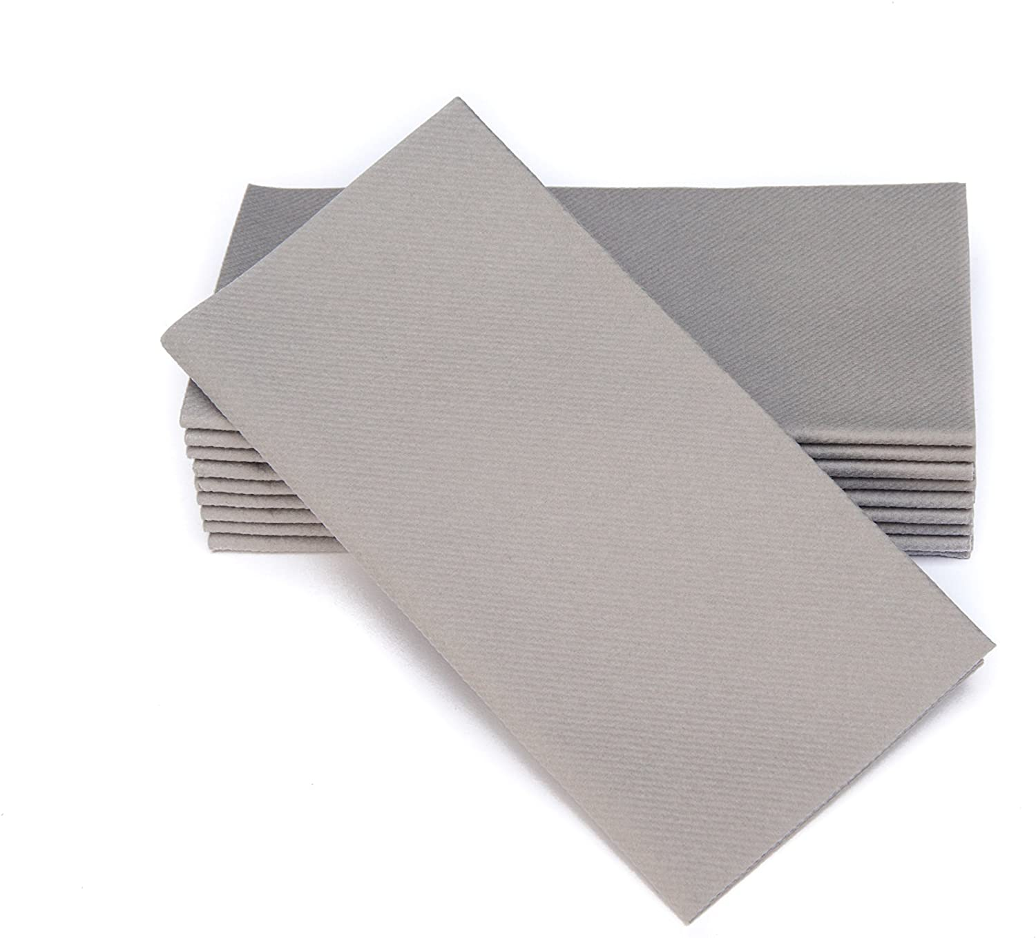 Simulinen Colored Napkins - Decorative Cloth Like & Disposable, Dinner Napkins - Rich Gray - Soft, Absorbent & Durable - 16
