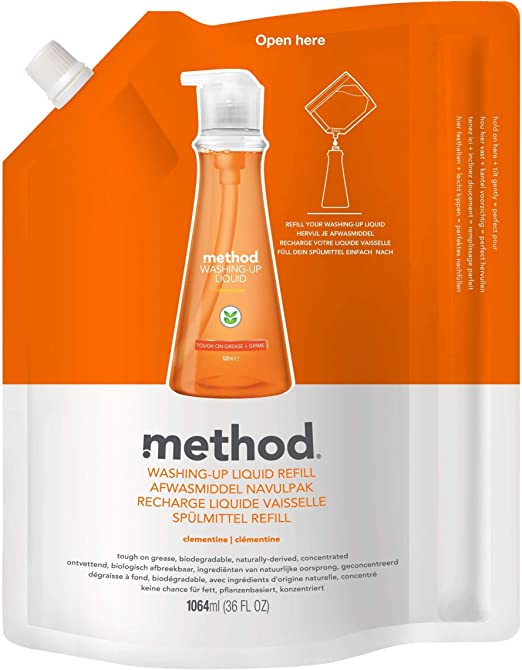 Method Washing Up Liquid Clementine 1064ml: Amazon.es: Hogar