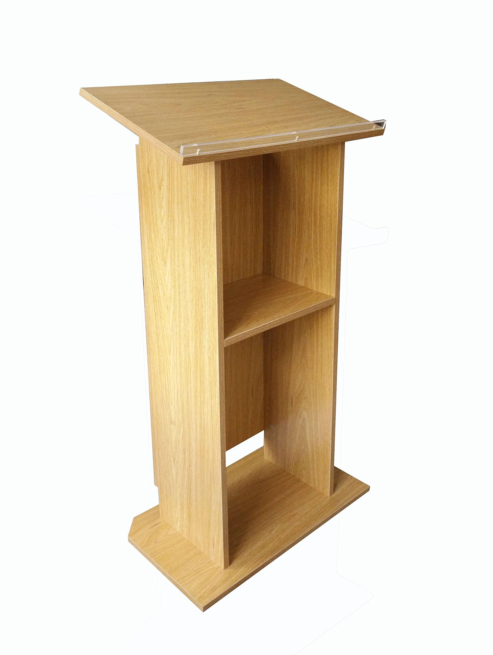 FixtureDisplays Wood (MDF) Podium Pulpit Lectern Reception 14302 by FixtureDisplays