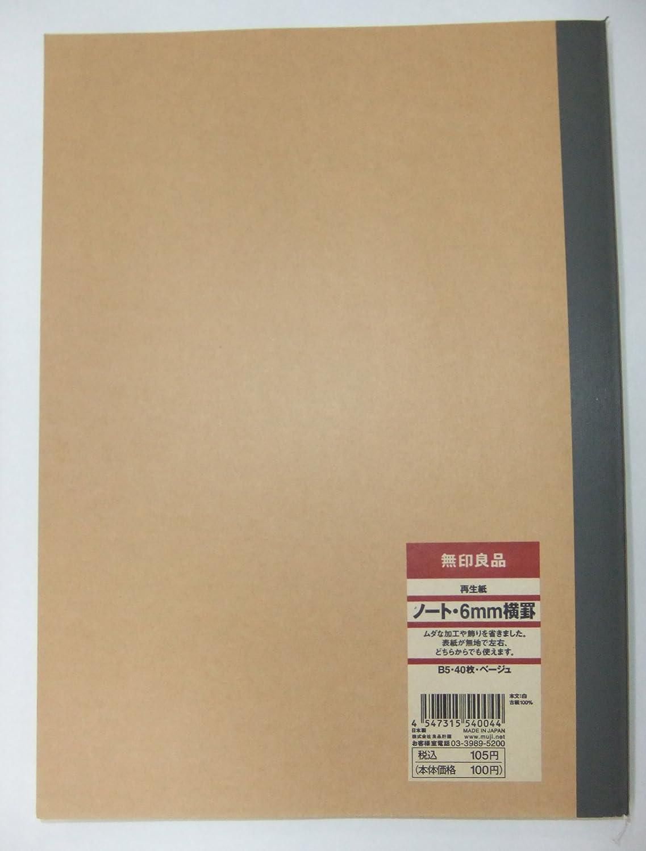 Amazon | 無印良品 再生紙 ノート・6mm横罫 B5 40枚ベージュ | 文房具・オフィス用品 | 文房具・オフィス用品