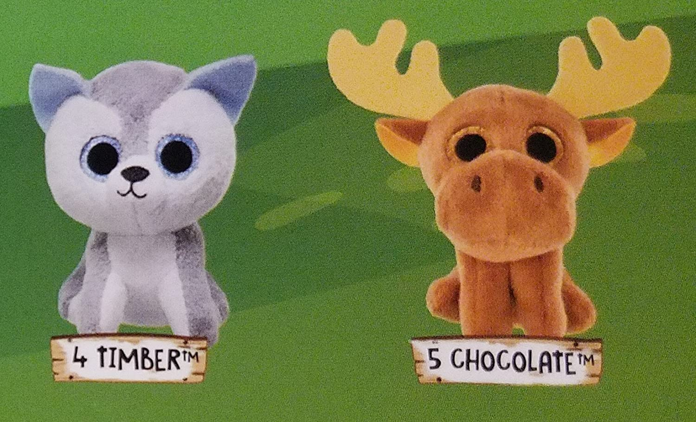 Amazon.com  Mcdonalds 2017 TEENIE BEANIE BOOS -  4 TIMBER    5 CHOCOLATE   Toys   Games e304ed760e58