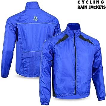 Biz Inn Sports Mens Ciclismo Chaqueta Impermeable para Hombre Alta Visibilidad Running Top Rain Coat M a 2 X L: Amazon.es: Deportes y aire libre