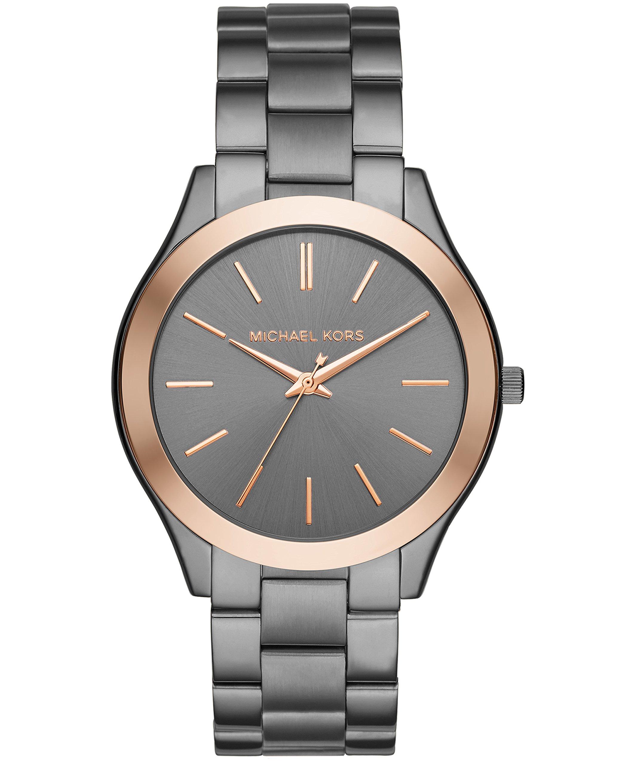 Michael Kors Men's Quartz Stainless Steel Casual Watch, Color:Grey (Model: MK8576)