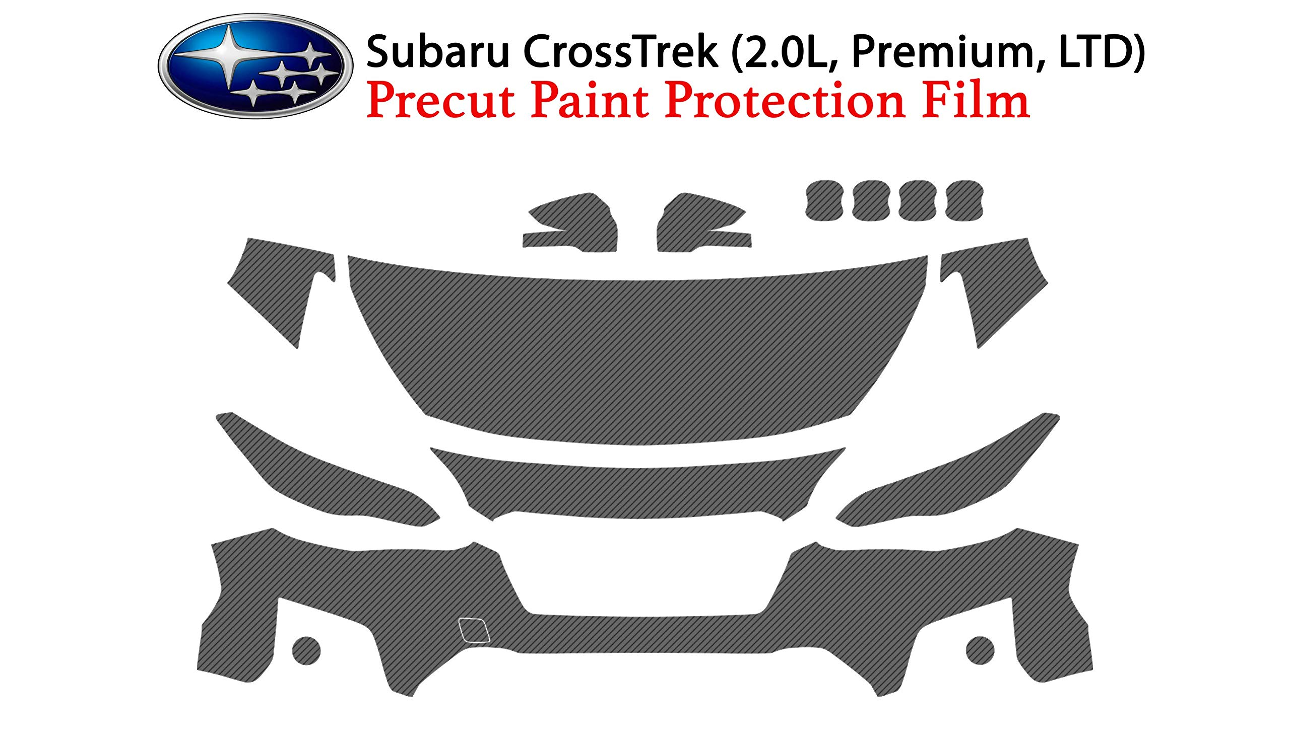The Online Liquidator Full Front Protective Film CrossTrek 2018 & 2019 - Clear Bra Car Paint Shield Cover