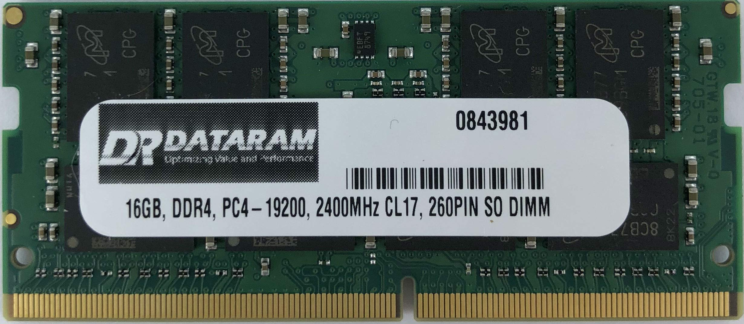 16GB DDR4 PC4-2400 SO Memoria para GIGABYTE P55W V7