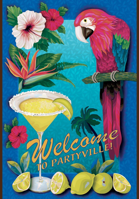 "Toland Home Garden 113194 Partyville 12.5 x 18 Inch Decorative, Garden Flag (12.5"" x 18"")"