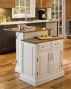 Woodbridge White Kitchen Island by Home Styles