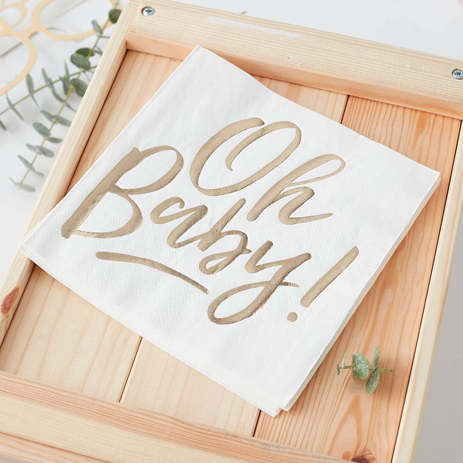OH BABY! GOLD FOILED OH BABY PAPER NAPKINS