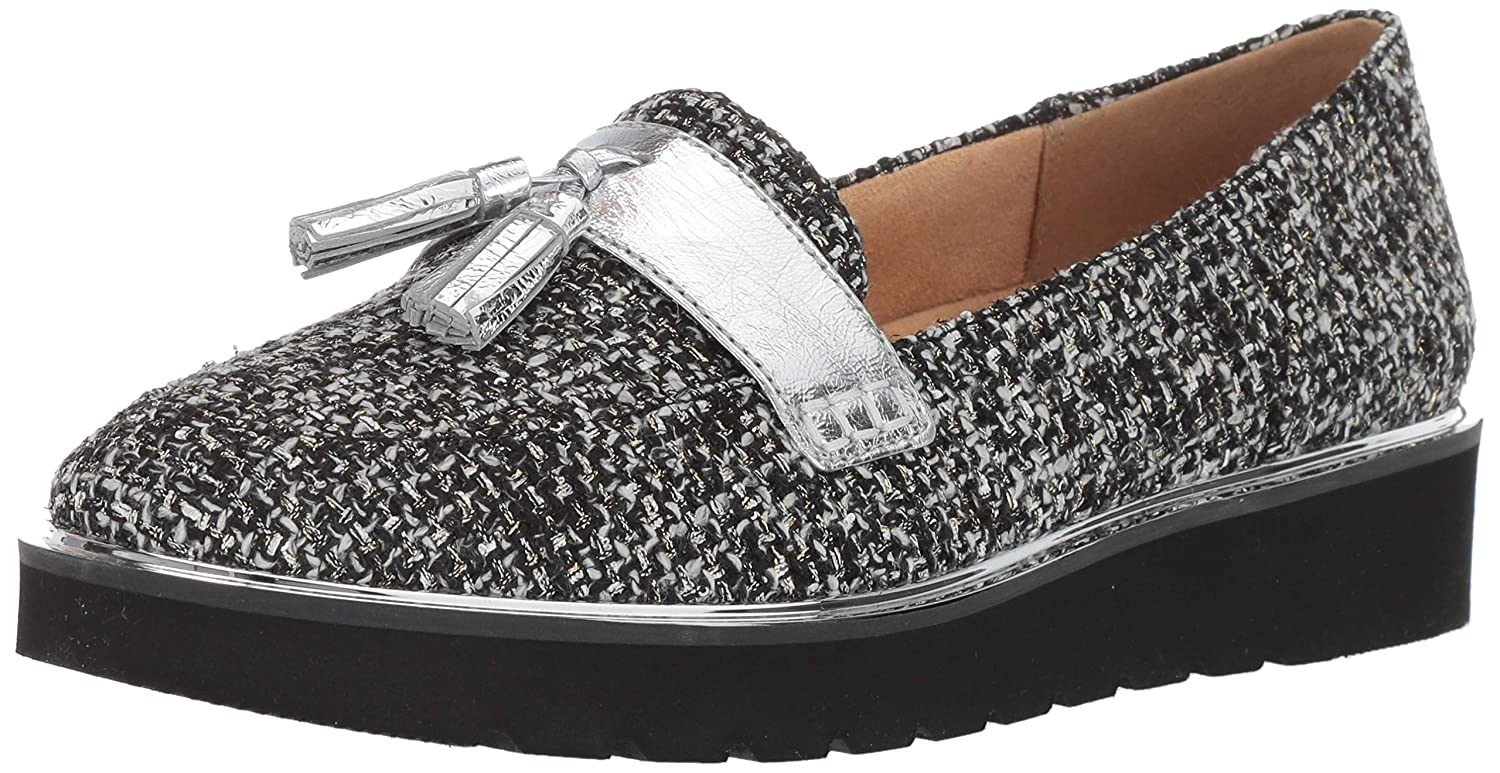 Black White Tweed Naturalizer Women's August Slip-On Loafers