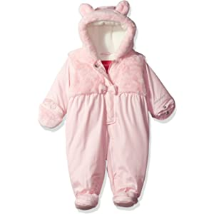 b07f6931e Amazon.com  First Impressions Infant Girls Plush Pink Snowsuit ...