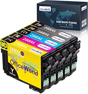 OfficeWorld Remanufactured Ink Cartridge Replacement for Epson 288 XL 288XL High Yield, Used for Epson XP-440 XP-330 XP-340 XP-430 XP-446 XP-434 Printer, 5-Pack (2 Black, 1 Cyan, 1 Magenta, 1 Yellow)