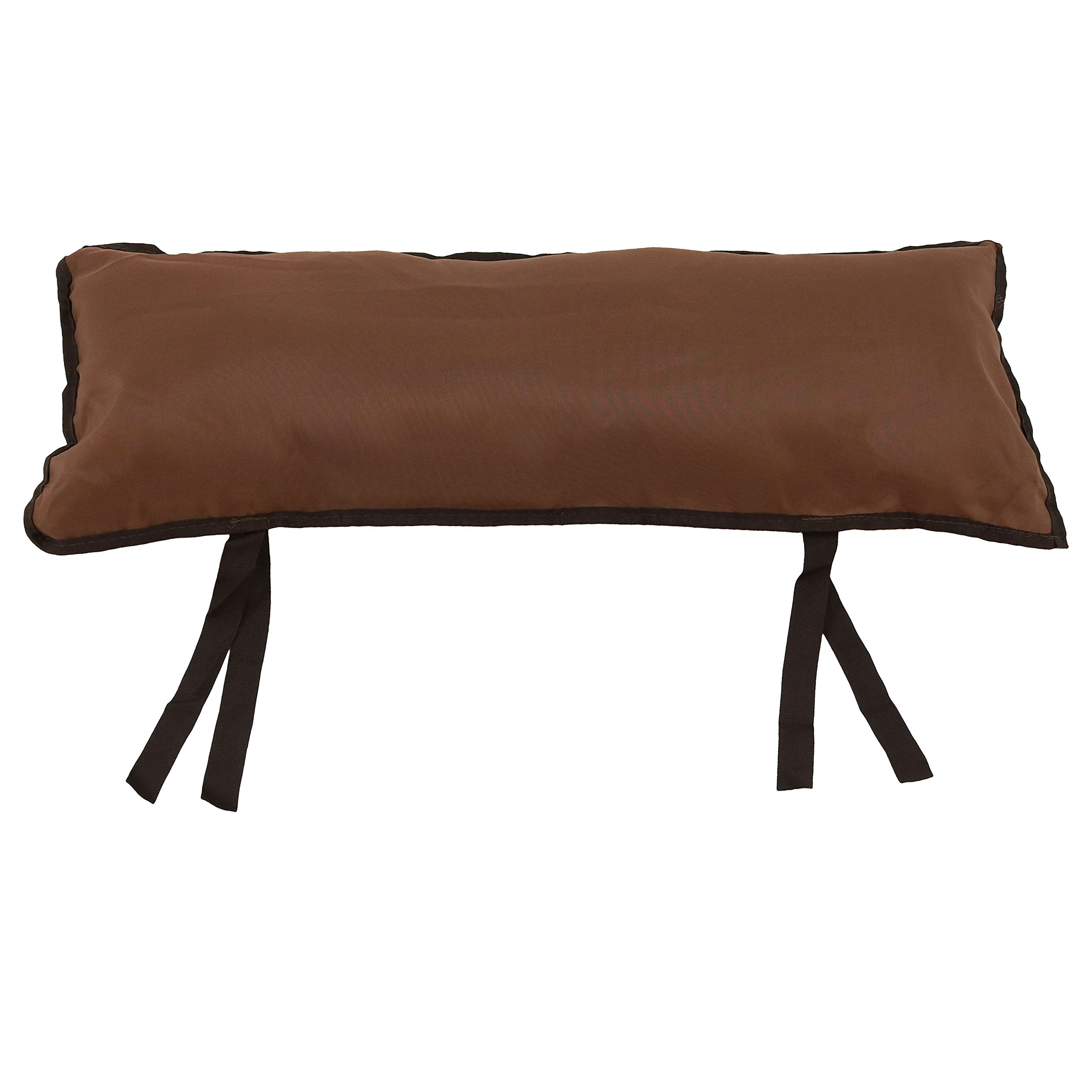 Sunnydaze Large Hammock Pillow with Ties, Outdoor Camping Pillow, Weather Resistant, Walnut