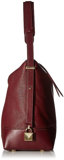 84b455cc15231 MICHAEL Michael Kors Femmes cuir Crosby grand sac à bandoulière Rouge Une  Taille: Amazon.fr: Chaussures et Sacs