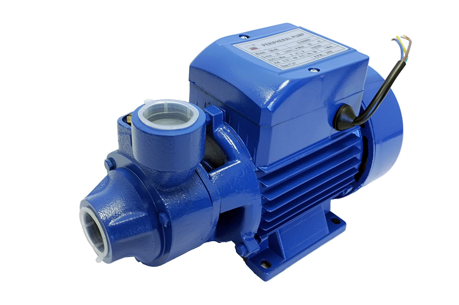 Electric Centrifugal Peripheral Power Clear Water Pump 0.5 1/2 Hp QB60  Pumping Garden House Pool Sprinkling Water - - Amazon.com