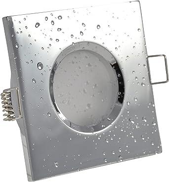spot encastrable de salle de bain ip65 carr sans ampoule couleur chrome - Spot Salle De Bain Ip65