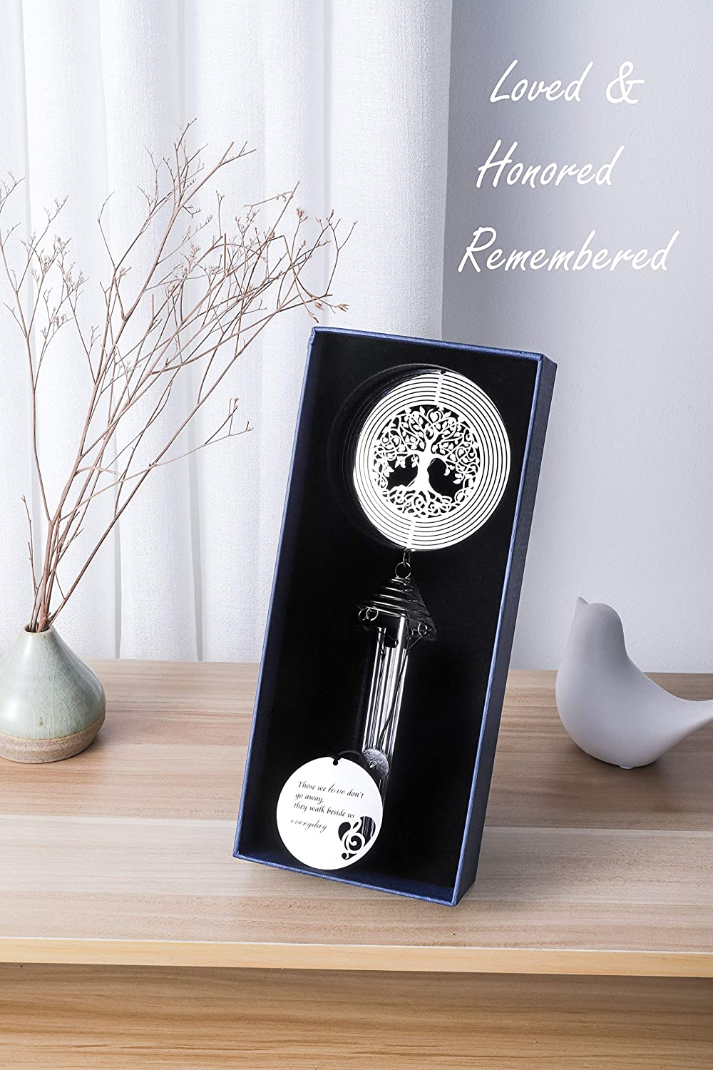 Memorial Wind Chimes for Loss of Loved One Memorial Gifts Sympathy Wind Chimes with Life Tree Wind Spinner Bereavement Gifts Ideal Sympathy Gift
