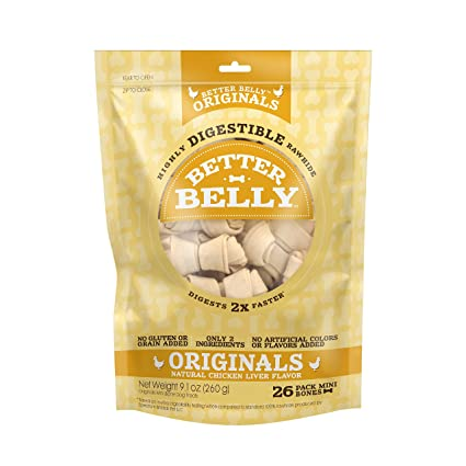 Amazoncom Better Belly Chicken Liver Rawhide Mini Dog Bones 26