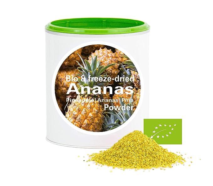 Piña en Polvo - Liofilizado|biológico|vegano|crudo|pura fruta|no