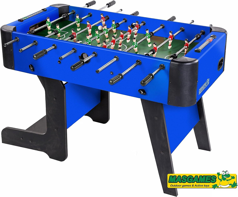 FUTBOLÍN PLEGABLE CITY BLUE: Amazon.es: Juguetes y juegos