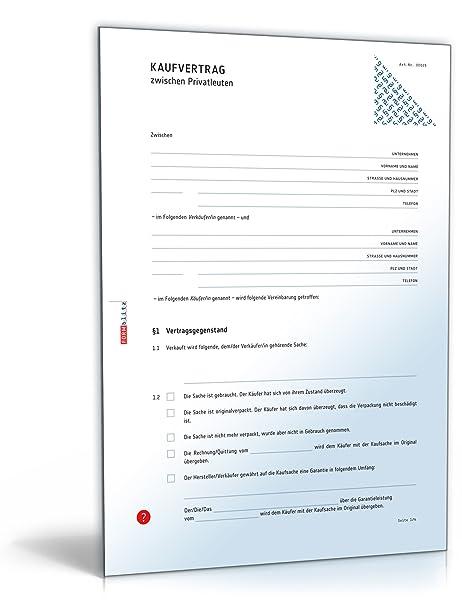 kaufvertrag vertrag zwischen privatleuten doc download amazonde software - Kaufvertrag Motorrad Muster