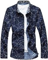 LeNG Slim NEW Spring Men Shirt Long Sleeve Autumn Dress Shirt Male Casual Men Plaid Shirts Print Plus Size M-7XL Cool