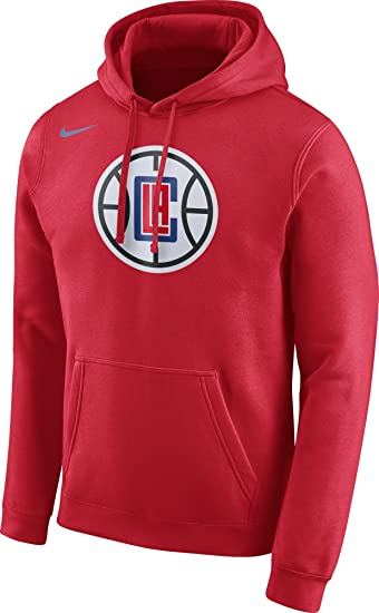 ad68873eb Amazon.com   Nike Men s Los Angeles Clippers Club Red Pullover ...