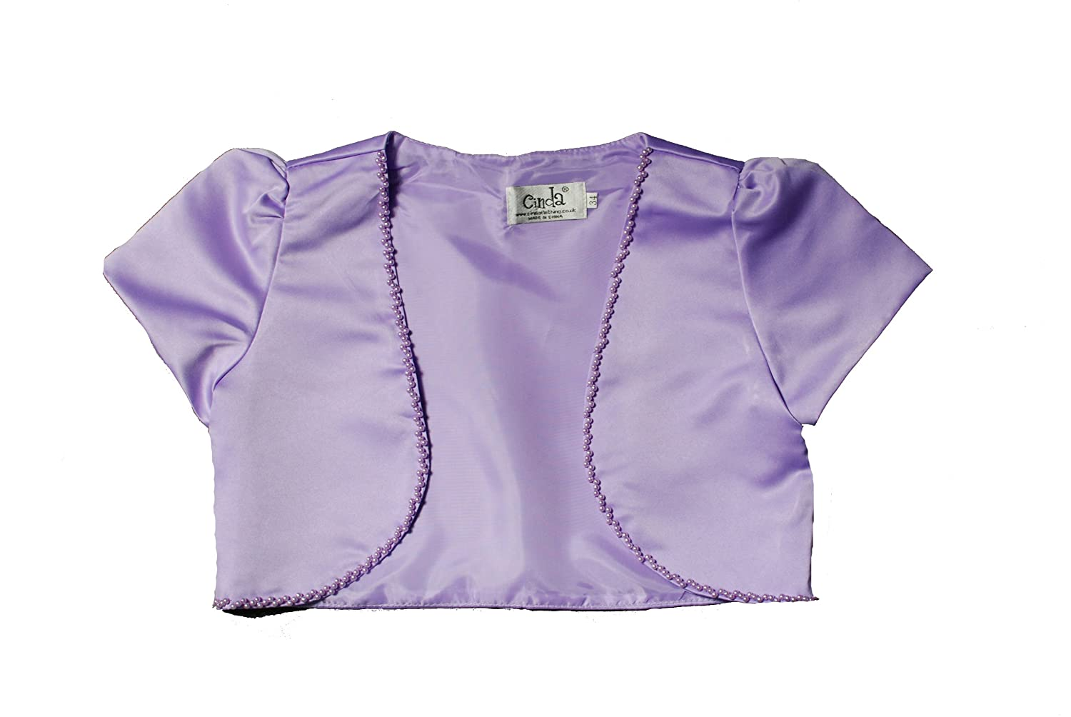 Cinda Clothing Little Girls' Satin Bolero