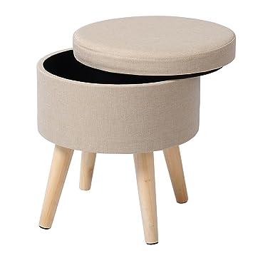 Sitzhocker Mit Stauraum eugad fußhocker polsterhocker sitzhocker mit stauraum aus leinen