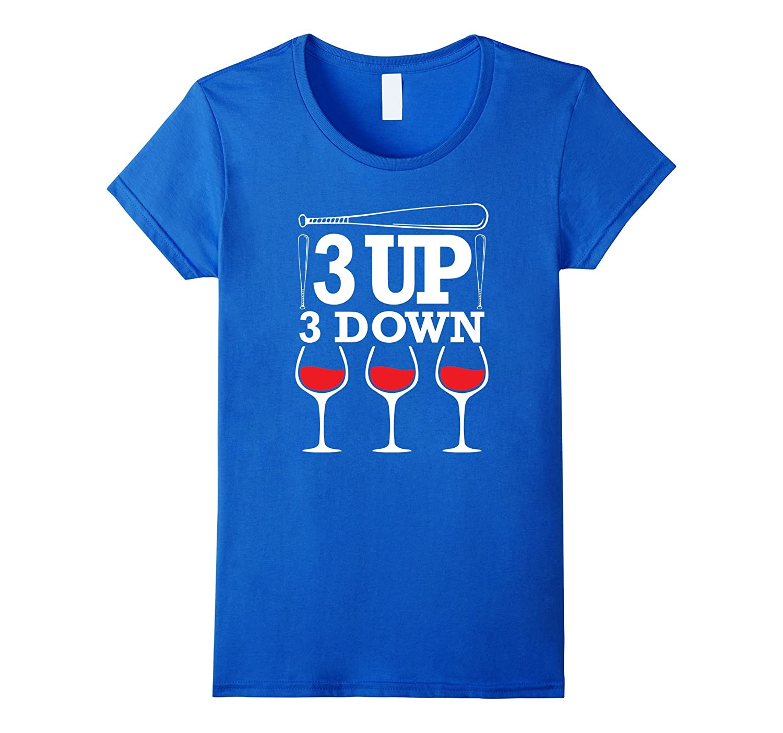 3 up 3 down T shirt Baseball Mom T-Shirt