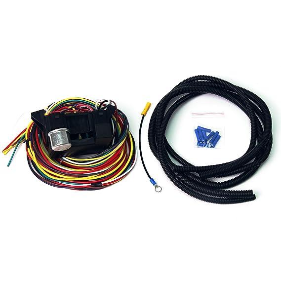 wisamic 10 circuit basic wiring harness fuse box street hot rat rod wiring box car truck 12v Street Rods Parts Memorabilia