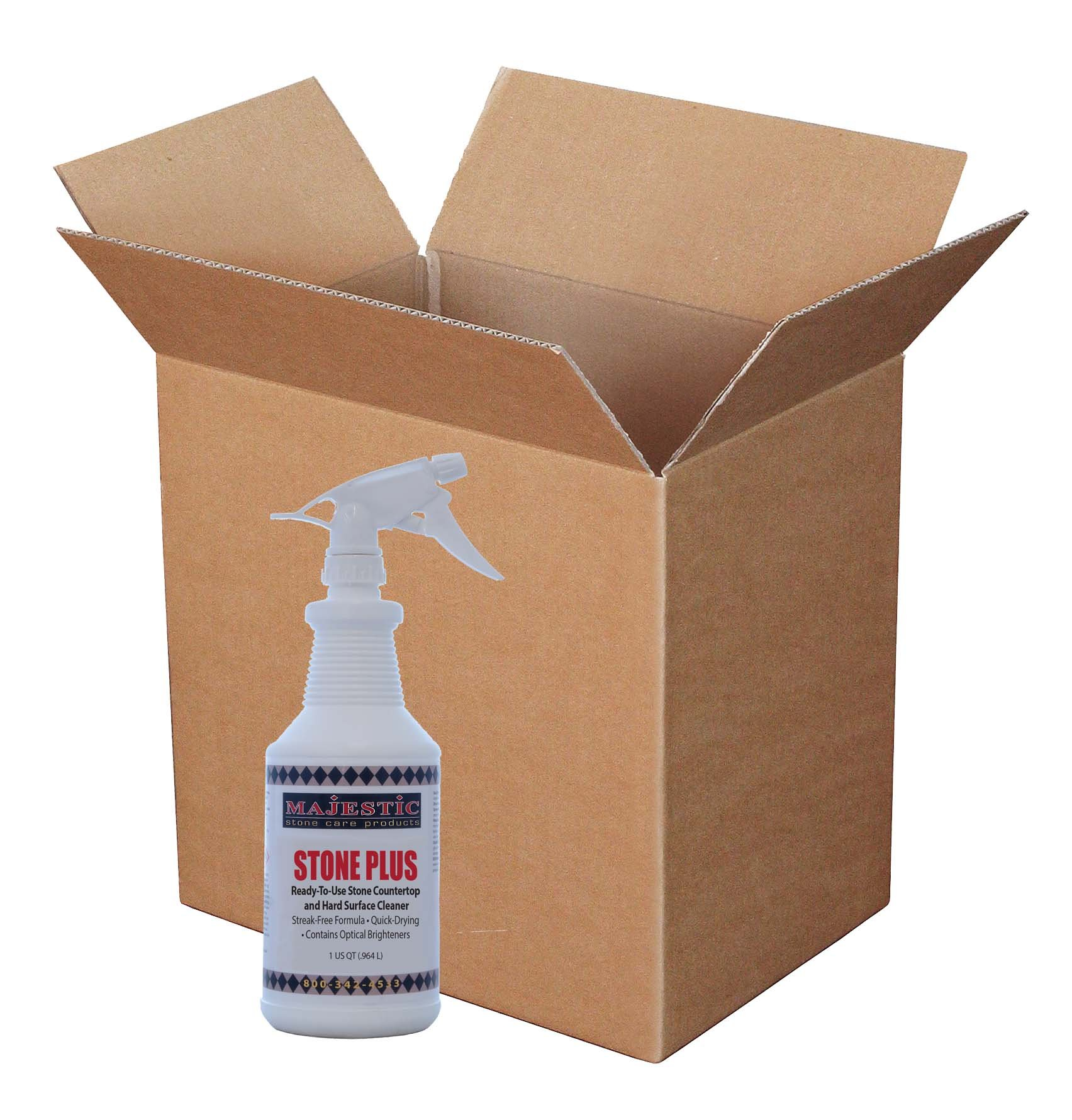 Stone Plus Spray Ready-To-Use Cleaner (Case/12 Qts.) by Majestic Stone Care Products