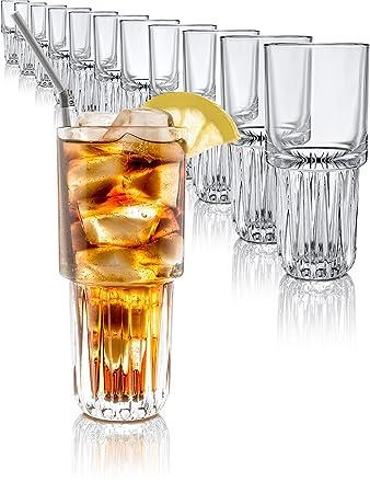 Libbey Gläser Cocktail-Gläser Longdrink-Set 12 Stück 296ml Wasser ...
