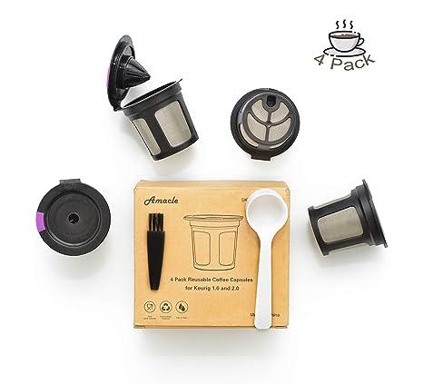 Amazon.com: Amacle K tazas reutilizables para Keurig Brewers ...