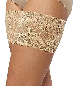 Bandelettes (bandas de encaje elástico para evitar el roce de los muslos) (F, Beige): Amazon.es: Hogar