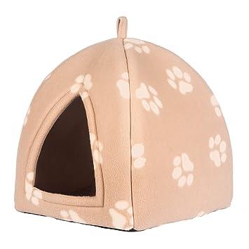 Confortable casa para gatos de PETEQ, cueva para gatos en más colores, 33cmx33cmx40cm, plegable y de materiales de alta calidad