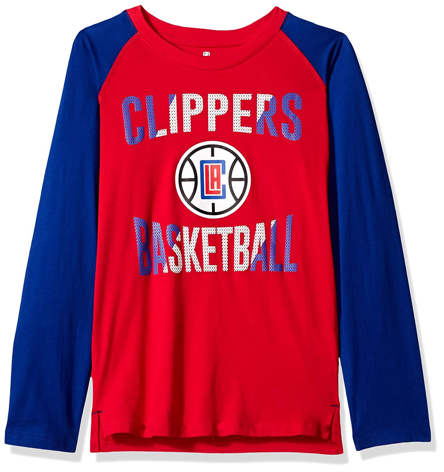 Youth Small Red 8 NBA by Outerstuff NBA Youth Boys Los Angeles Clippers Free Throw Long Sleeve Fashion Tee