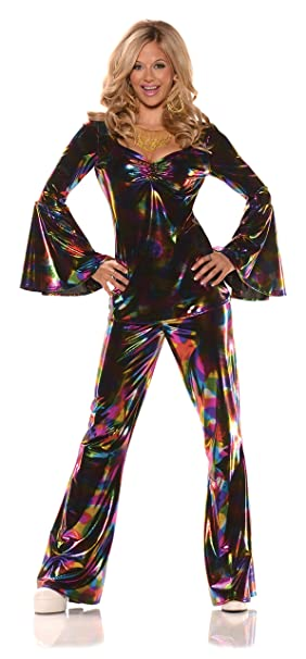 70s Costumes: Disco Costumes, Hippie Outfits Underwraps - DISCO DIVA ADULT MEDIUM COSTUME $39.49 AT vintagedancer.com