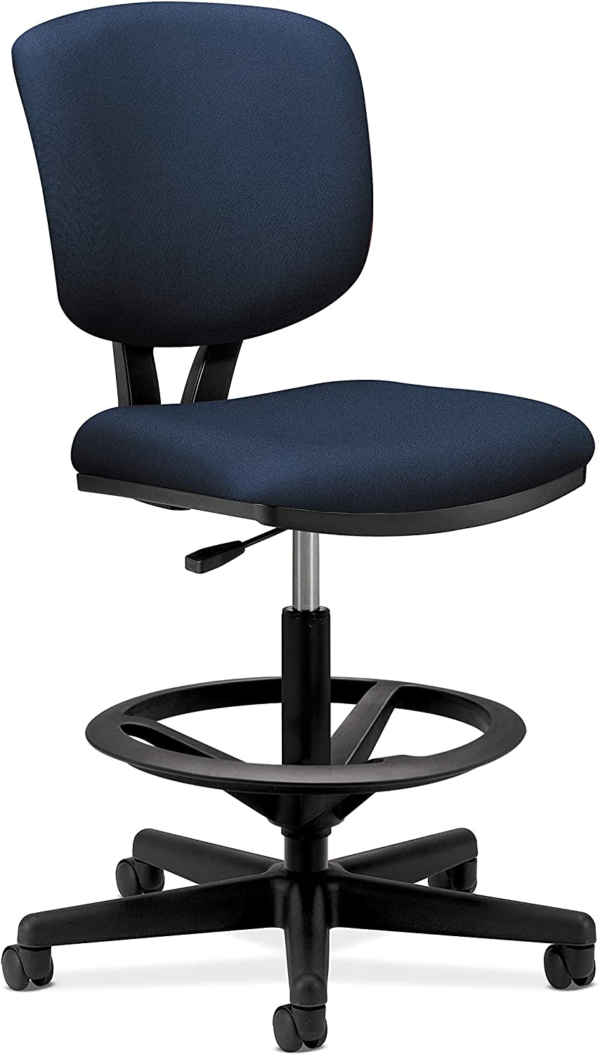 Hon Volt Task Stool- Upholstered Office Stool, Navy (H5705)
