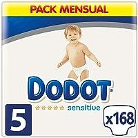 Dodot Sensitive Pañales Talla 5, 168 Pañales, 11-16