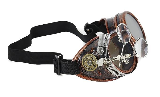Amazon.com: Steampunk Victorian escopeta balas anteojos 2 x ...