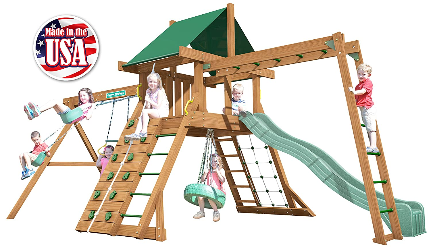 Creative Playthings (クラシックシリーズ)ノースブリッジPack 2スイングセットMade in the USA B07DP6PJJT