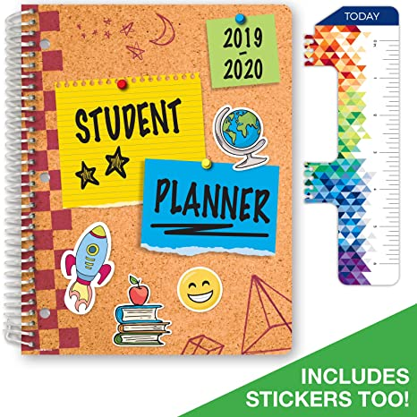 Dated Elementary Student Planner for Academic Year 2019-2020 (Matrix Style - 8.5
