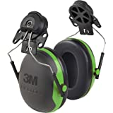 3M Personal Protective Equipment 3M PELTOR Ear Muffs, Noise Protection, Hard Hat Attachment, NRR 21 dB, Construction, Manufacturing, Maintenance, Automotive, Woodworking, X1P3E,Black/Green