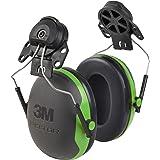 3M Peltor XSeries CapMount Earmuffs, NRR 21 dB, One Size Fits Most, Black/Green X1P3E (Pack of 1)