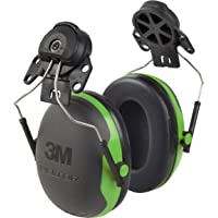 3M Peltor XSeries CapMount Earmuffs, NRR 21 dB, One Size Fits Most, Black/Green X1P3E (Pack of 1)