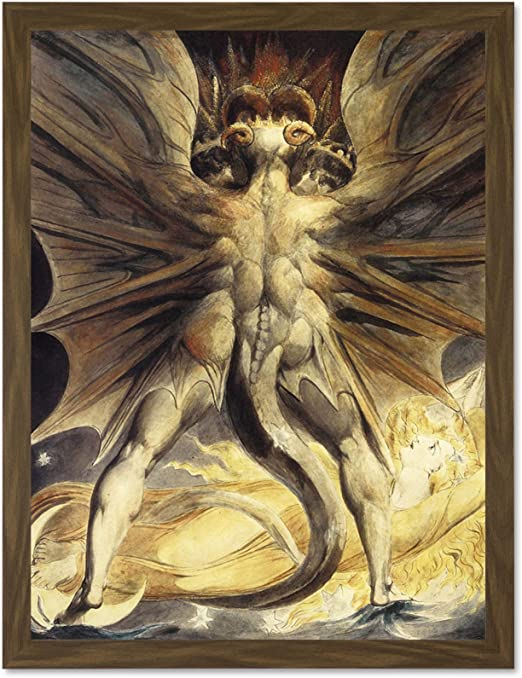 The Great Red Dragon and the Woman Clothed in Sun Poster William Blake 1805
