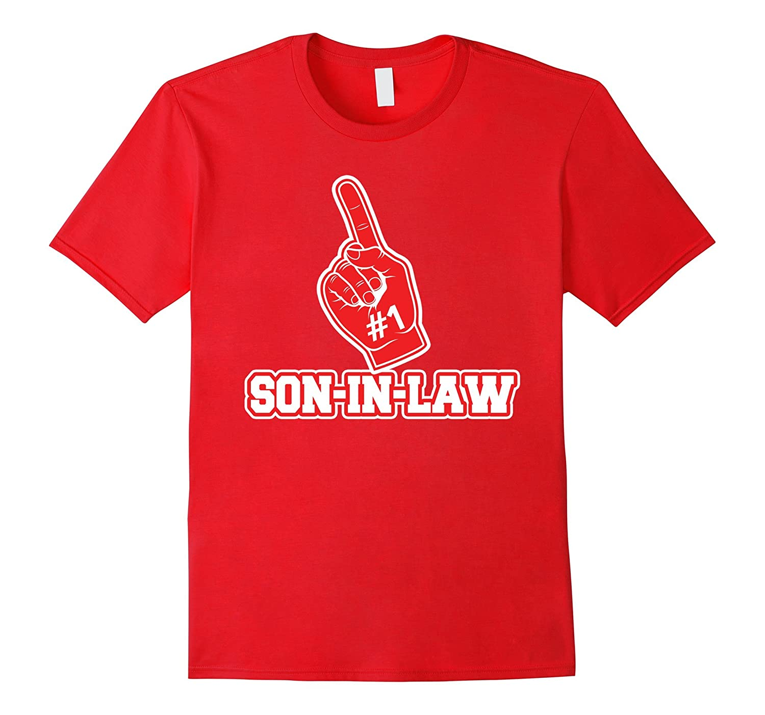 #1 Son-in-Law T Shirt – Number One Foam Finger Gift Tee